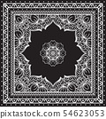 Black and white Bandana print design with borders for fashion textile. 54623053