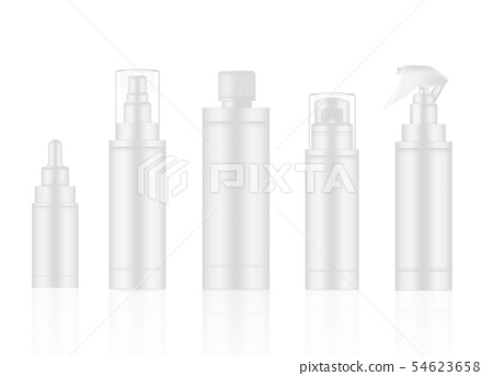 Bottle Mock up White Realistic Skincare Product 54623658