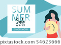 Season summer sale poster concept with woman 54623666