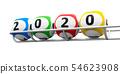 Lottery balls 2020 frame #2 54623908