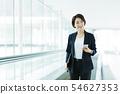 비즈니스 사무실 사업가 여성 오토 슬로프 54627353