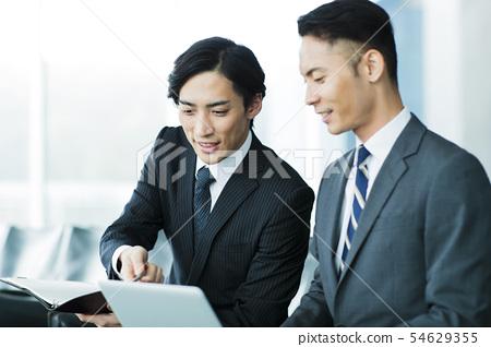 비즈니스 사무실 사업가 중간 경력 54629355