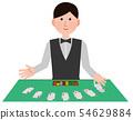 赌场经销商男性插图 54629884