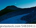 The light of the northern alps, Mt. Ashigatake and Mt. Ashigatake Sanso, afterglow 54630411