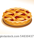 Vector illustration of Rhubarb Pie 54630437