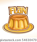 Vector logo for french dessert Flan 54630470