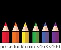 color pencil background , vector LGBT color 54635400