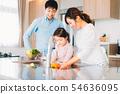 家庭年輕的家庭 54636095