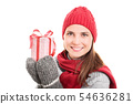 Winter, holidays and presents 54636281