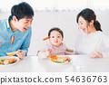 家庭年輕的家庭 54636763