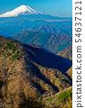 鍋割山에서 보는 단풍 산과 후지산 54637121