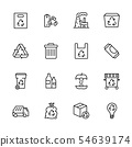 Garbage collection and waste disposal icon simple symbols set. Ecology and environment safety 54639174