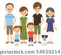 三代家庭排成一体 54639214