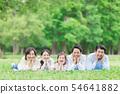 三代家庭形像新鮮的綠色面頰藤莖 54641882