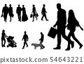 people walking silhouettes collection 54643221