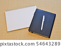 스케치북과 펜과 수첩 54643289