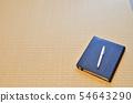 수첩과 펜과 여백 54643290