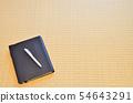 수첩과 펜과 여백 54643291