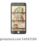 Digital online library on smartphone 54645580