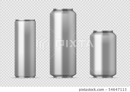 Beer can mockup. Realistic aluminum metal can for soda, different types of blank can with copy space 54647113