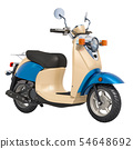 Classic Scooter or Electric Moped, 3D rendering 54648692