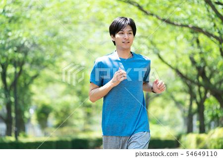 慢跑鍛煉年輕人形象 54649110