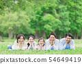 三代家庭形像新鮮的綠色面頰藤莖 54649419