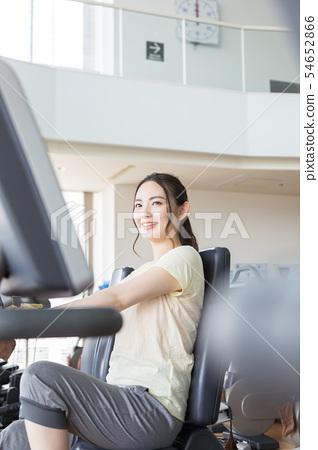 헬스 클럽 헬스 자전거 자전거 여성 54652866