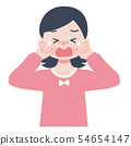 Illustration of a crying girl 54654147