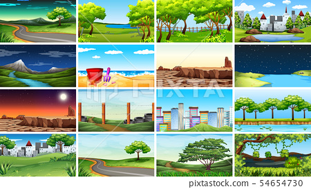 Large set of different scenes 54654730