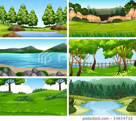 Set of different nature scenes 54654738