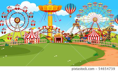 A scene of funfair 54654739