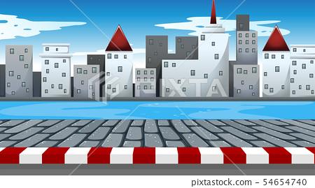 A simple urban scene 54654740