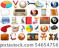 Set of many objects 54654756