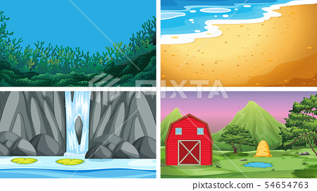 Set of different background 54654763