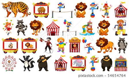 Large circus themed set 54654764