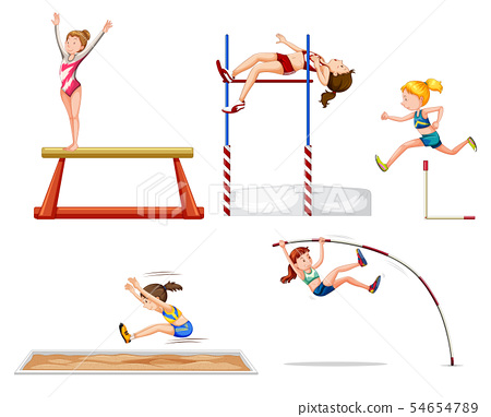 Set of sport athletes 54654789