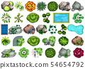 Set of plant for decoration 54654792