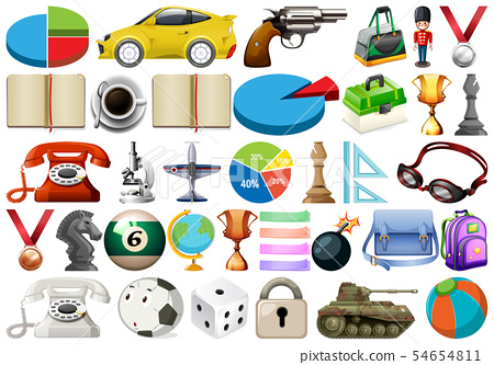 large set of miscellaneous objects 54654811