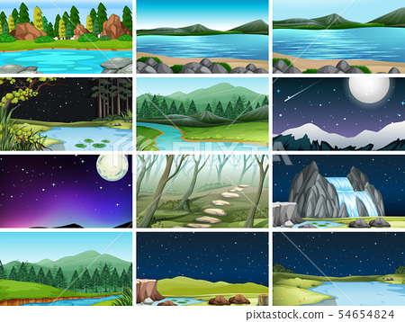Set of different nature backgrounds 54654824