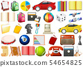 Set of different objects 54654825