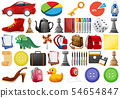 large set of different objects 54654847