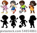 Set of children character 54654861