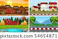 Set of background scenes 54654871