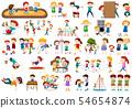 Set of children at playground 54654874