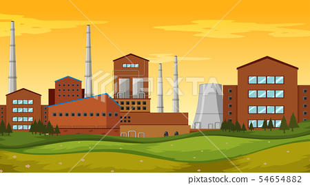 Factory site background scene 54654882