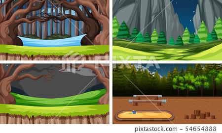 Set of nature landscape 54654888