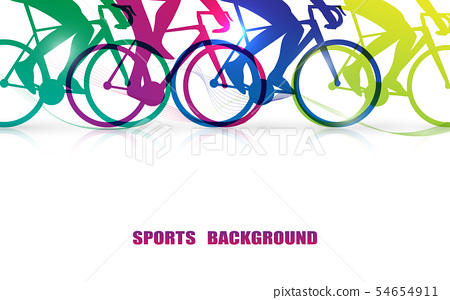 Sports people riding bicycles 54654911