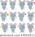 쥐의 다양한 포즈의 일러스트 세트 54656911