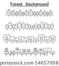 Forest landscape in panorama view vector 54657008